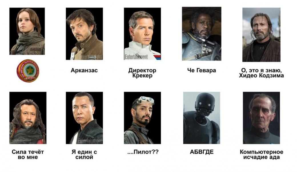 Вы точно не помните всех героев «Звездных войн: Изгой-один» поименам