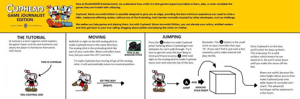 Инструкция для игровых журналистов: как играть в Cuphead