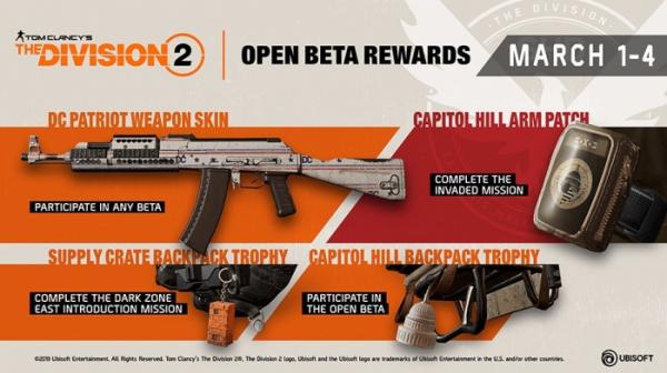 Ubisoft рассказала о контенте «беты» The Division 2 и наградах за участие в тесте1