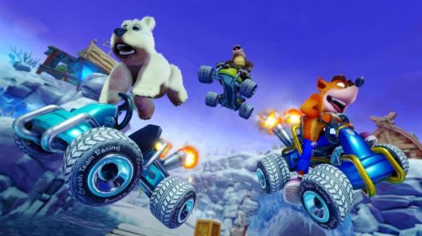 Ужимки милых зверушек в роликах из Crash Team Racing Nitro-Fueled2