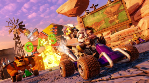 Ужимки милых зверушек в роликах из Crash Team Racing Nitro-Fueled0