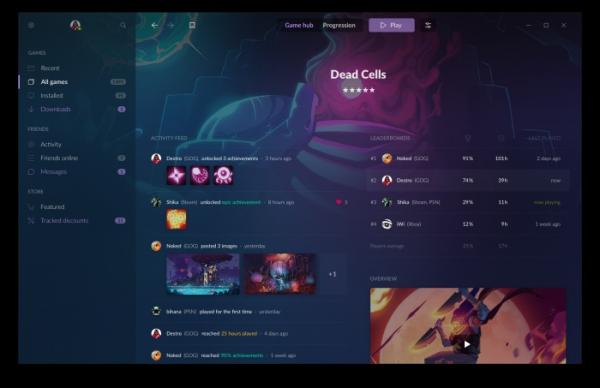 Анонс GOG Galaxy 2.0 — сервиса, который объединит друзей и библиотеки игр с разных платформ3