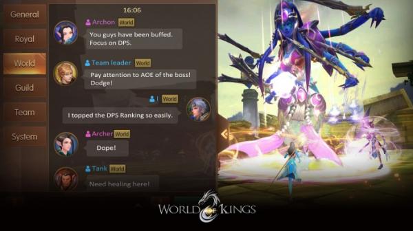 В App Store и Google Play вышла World of Kings — масштабная MMORPG с PvP и подземельями3