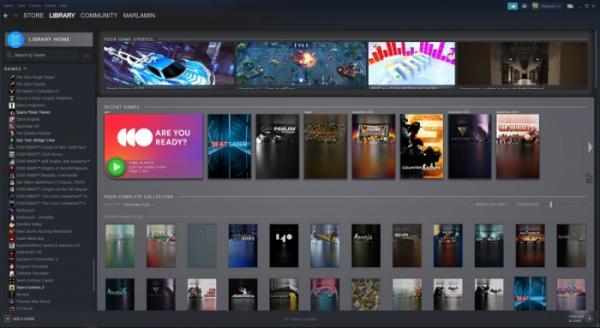 Утечка: свежие скриншоты обновлённого интерфейса Steam0