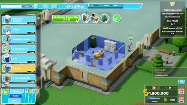 В этом году симулятор потешной больницы Two Point Hospital появится на консолях3