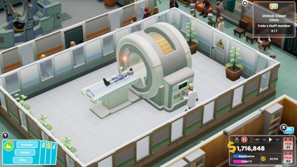В этом году симулятор потешной больницы Two Point Hospital появится на консолях2