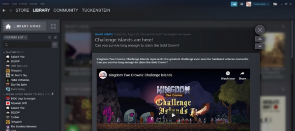 «Бета» обновлённой библиотеки Steam стартует 17 сентября1