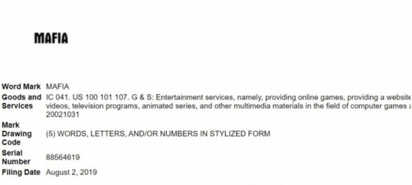 Take-Two регистрирует торговую марку MAFIA и продлевает права на Mafia II0