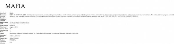 Take-Two регистрирует торговую марку MAFIA и продлевает права на Mafia II1